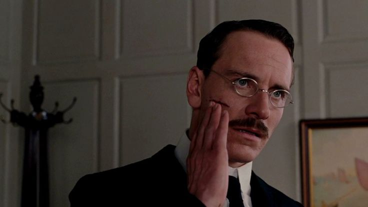 Sabina Spielrein stabs Carl Jung in the face in A Dangerous Method ...