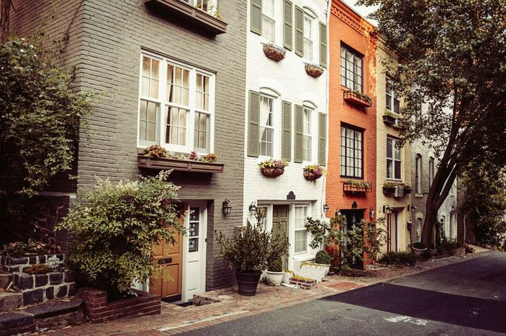 What to do in Washington DC - The perfect itinerary and travel guide for a trip to DC! This photo is of the lovely townhouses in Georgetown.