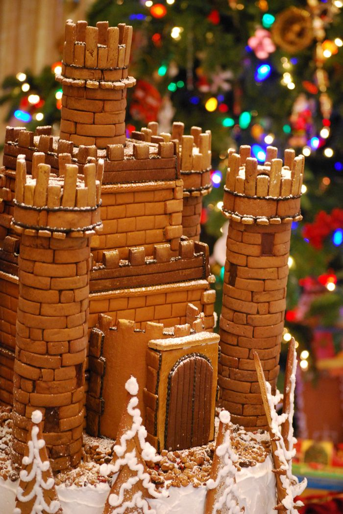 A Rather Regal Gingerbread Castle For A Custom Installation