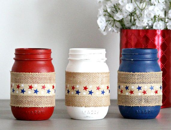 Red White And Blue,Patriotic Decor,4th July Home Decor