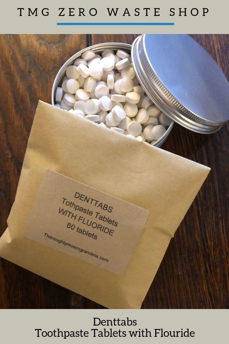 Denttabs Toothpaste Tablets with Fluoride Zero waste