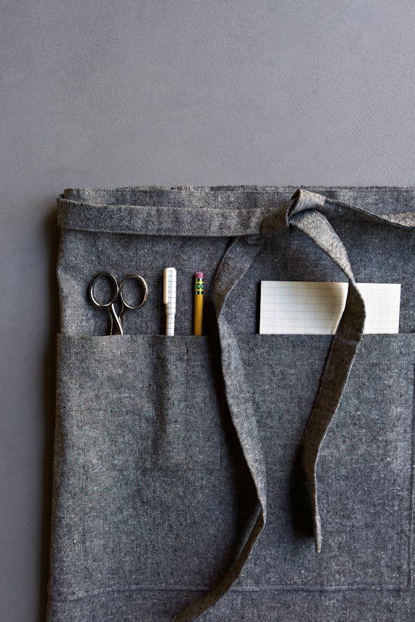 Free Sewing Pattern: Shop Apron In 4 Sizes.  http://www.purlsoho.com/create/2015/10/17/shop-apron-2/