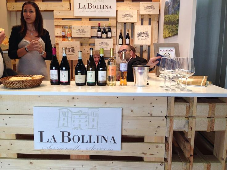Marco and Federica at our box , Vinitaly 2014