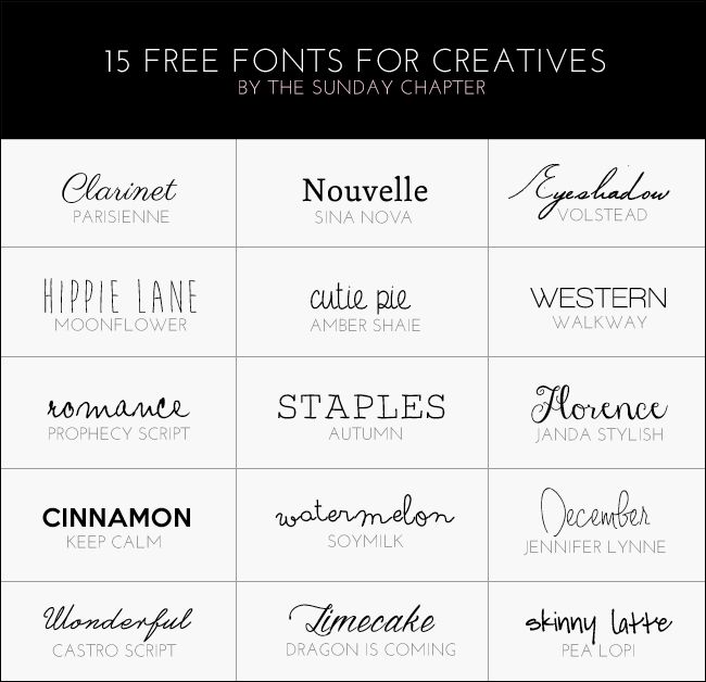 The Sunday Chapter: 15 Free Fonts For Bloggers And Creatives