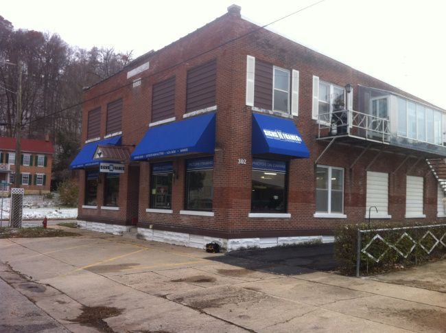 Signs N Frames installs new Storefront Blue Awnings (With ...