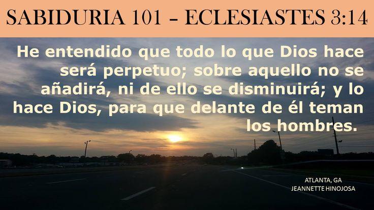 ECLESIASTES 3:14  -  MARIETTA, GA