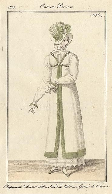 Costume Parisien, 1812.
