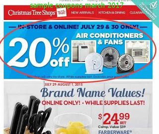 Christmas Tree Shops coupons for march 2017