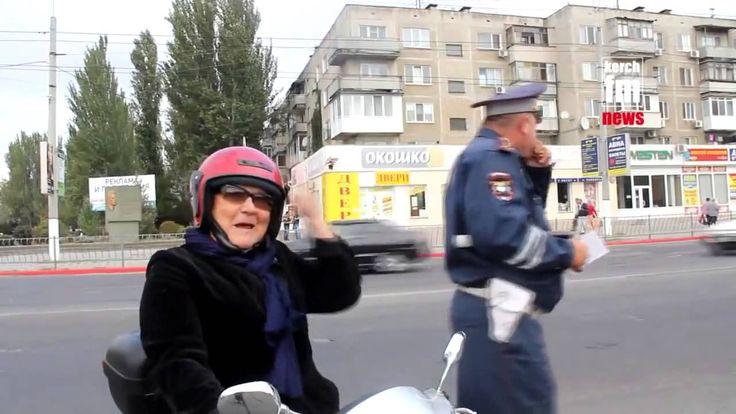 Авто приколы Бабка жжот!!! Авто приколы Auto lights fun Grandma !!! Auto...