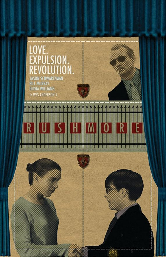 Rushmore Film Poster by sap41387 on Etsy