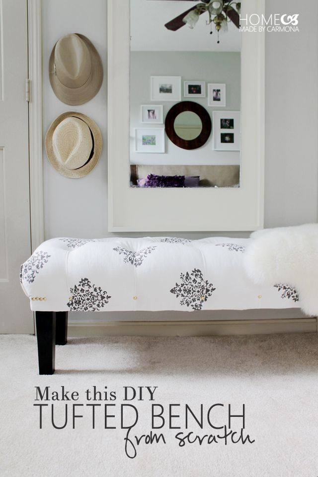 how to build a diy tufted bench bedroom