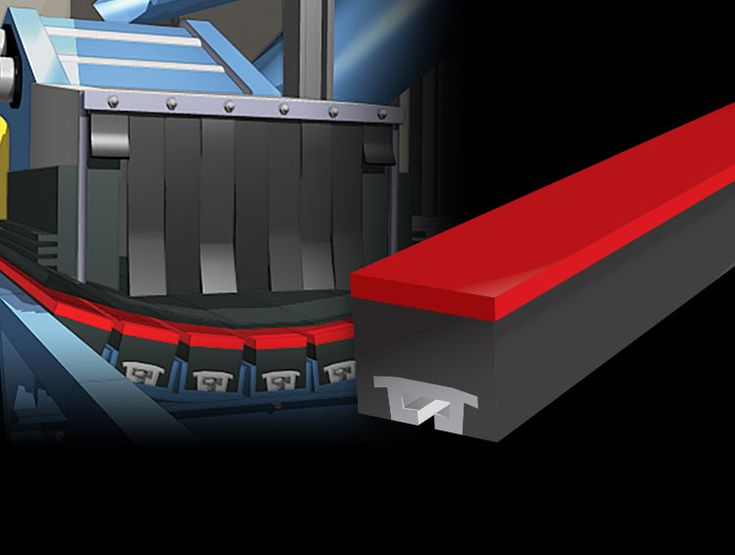 Conveyor Impact Bars provide support across the width and length of the load area on the conveyor belt.