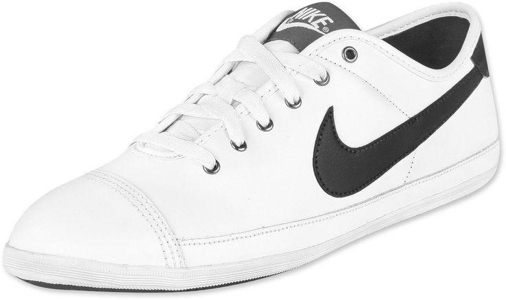 Heren Dames Nike Flash Leather Wit Zwart Sneakers,HOT SALE!