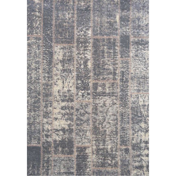 Veritc Anthracite Patchwork PS3 Rug an elegant weathered patchwork design using a faded colour palette of graphite with gold trim.