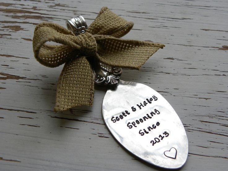 Spoon ornament SPOONING SINCE - personalized with your own colors ...