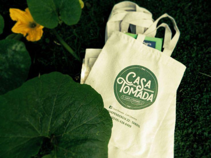 """Bolsas de lienzo para """"Casa Tomada - Café Literario"""" Tandil"""