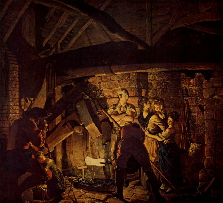 ART - Joseph Wright of Derby - An Iron Forge (1772), The Tate Gallery, London