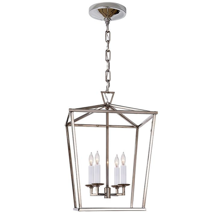 Small Darlana Lantern available in gilded gold iron or polished nickel frame will accept up to 60 watt candelabra bulbs the fixture itself measures 12 - small lantern pendant light