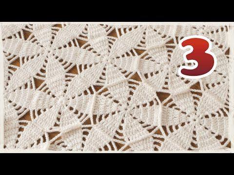 モチーフをつなぐショール・ブランケットの編み方(3)【かぎ編み】縁取り - YouTube