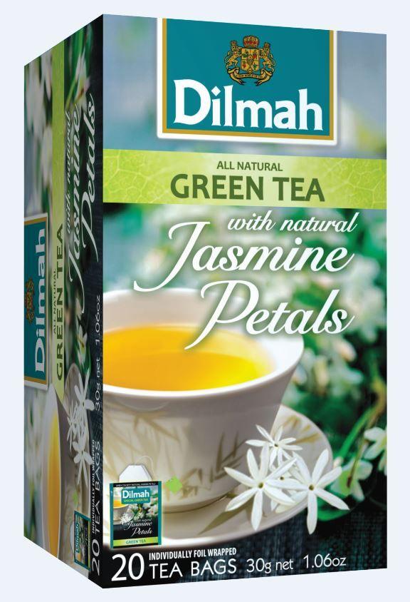 Zeleni čaj Dilmah s cvetovi Jasmina.