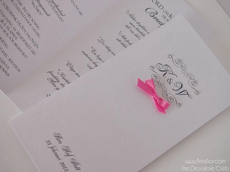 Bröllopsprogram med Rhinestones