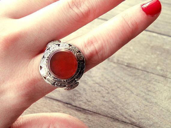 ON SALE Bedouin ring Bedouin jewelry ethnic ring by CarmelaRosa