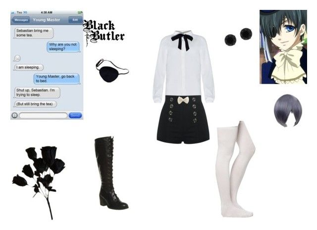 ciel phantomhive by mayleneholm on Polyvore featuring Office, Anne Klein, Coshome and Ciel