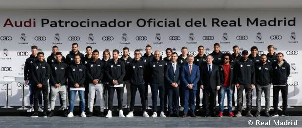 Audi presented the official vehicles to the Real Madrid first-team squad