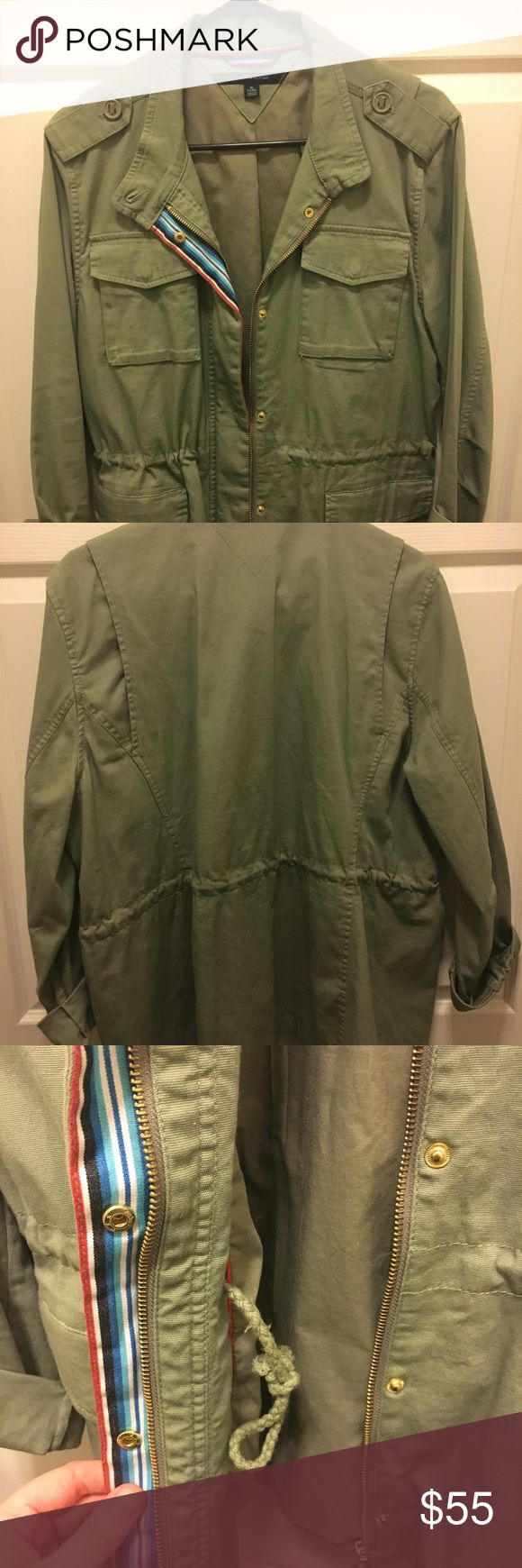 Tommy Hilfiger Army Jacket size XL Army green aka olive green army jacket by Tommy Hilfiger. Worn once, in great condition Tommy Hilfiger Jackets & Coats