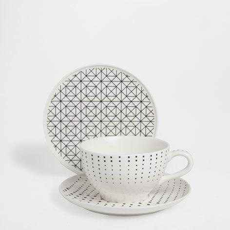 GEOMETRIC MOTIF BREAKFAST SET - Dinnerware - Tableware | Zara Home Jordan