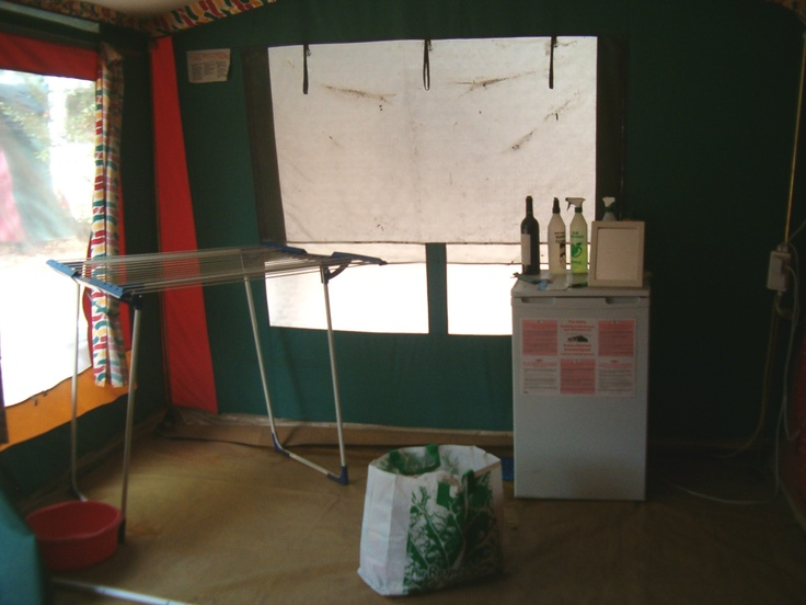 This was my, ahem, kitchen... Inside the tent I spent 6 weeks living in onsite...