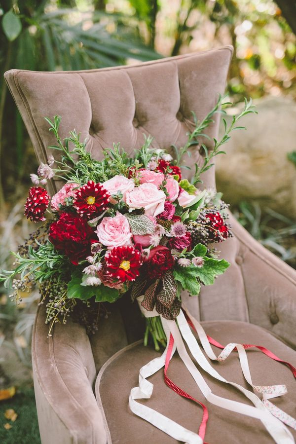 winter wedding bouquet - photo by Anna Delores Photography http://ruffledblog.com/garden-wedding-inspiration-with-antique-details #bouquets #flowers #weddingbouquet