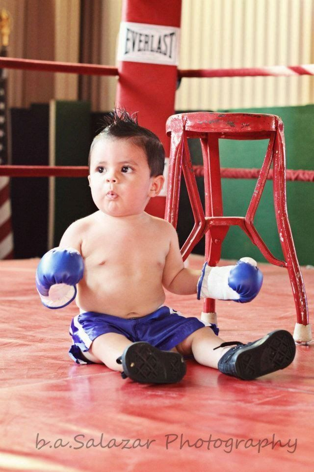 Wearable Baby Boxing Gloves & Boxing Trunk Combo