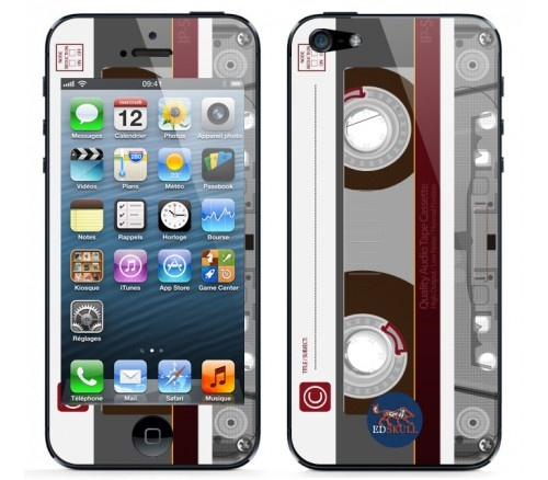 Stylish cassette tape skin for iphone5