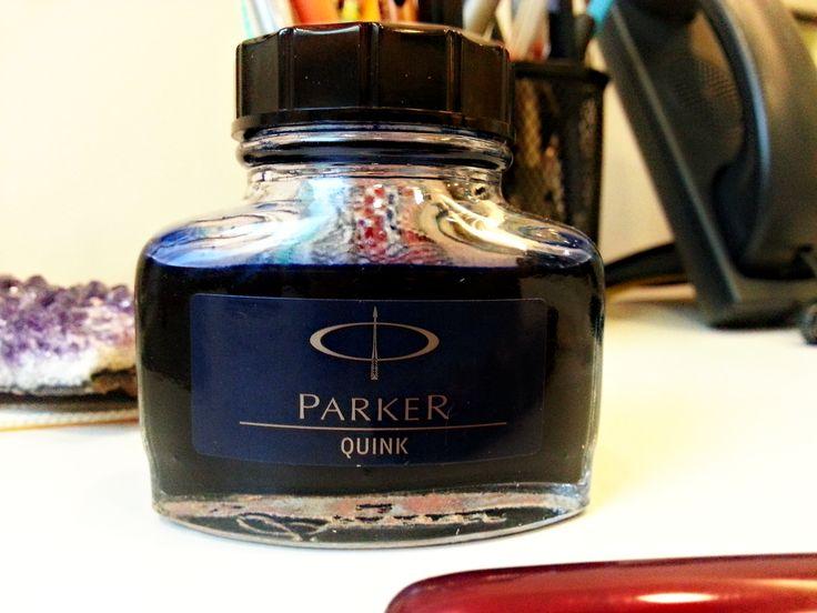 Write to Me Often: Parker Quink Blue-Black Ink Review / Parker Quink ...