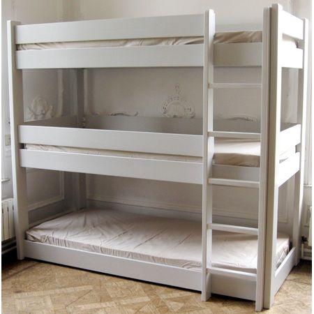 Best Kids Bedroom 3 Tier Bunk Bed In Dominique Design Dream 400 x 300