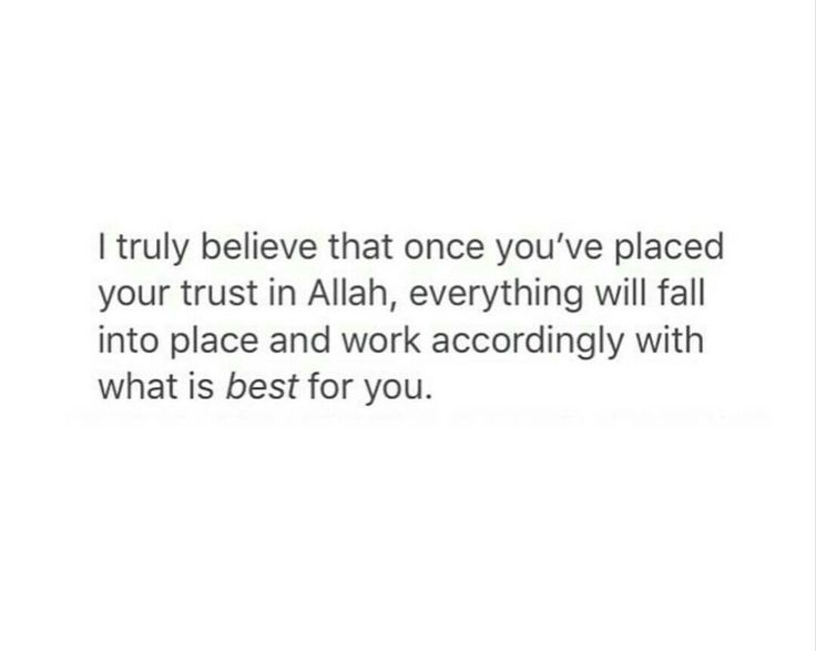 I really, truly wholeheartedly believe this..