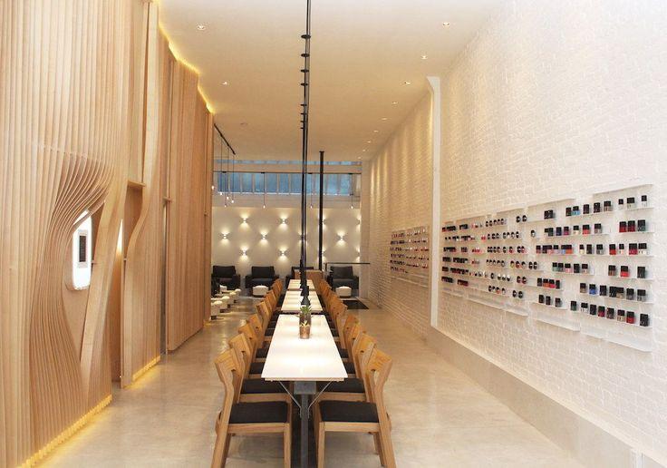 Nail Salon - Spa Interiors - Hospitality Design - Floating Shelves - Modern Furniture