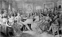 """""""A Schubertiade is an event held to celebrate the music of Franz Schubert. During Schubert's lifetime, these events were generally informal, unadvertised gatherings, held at private homes."""""""