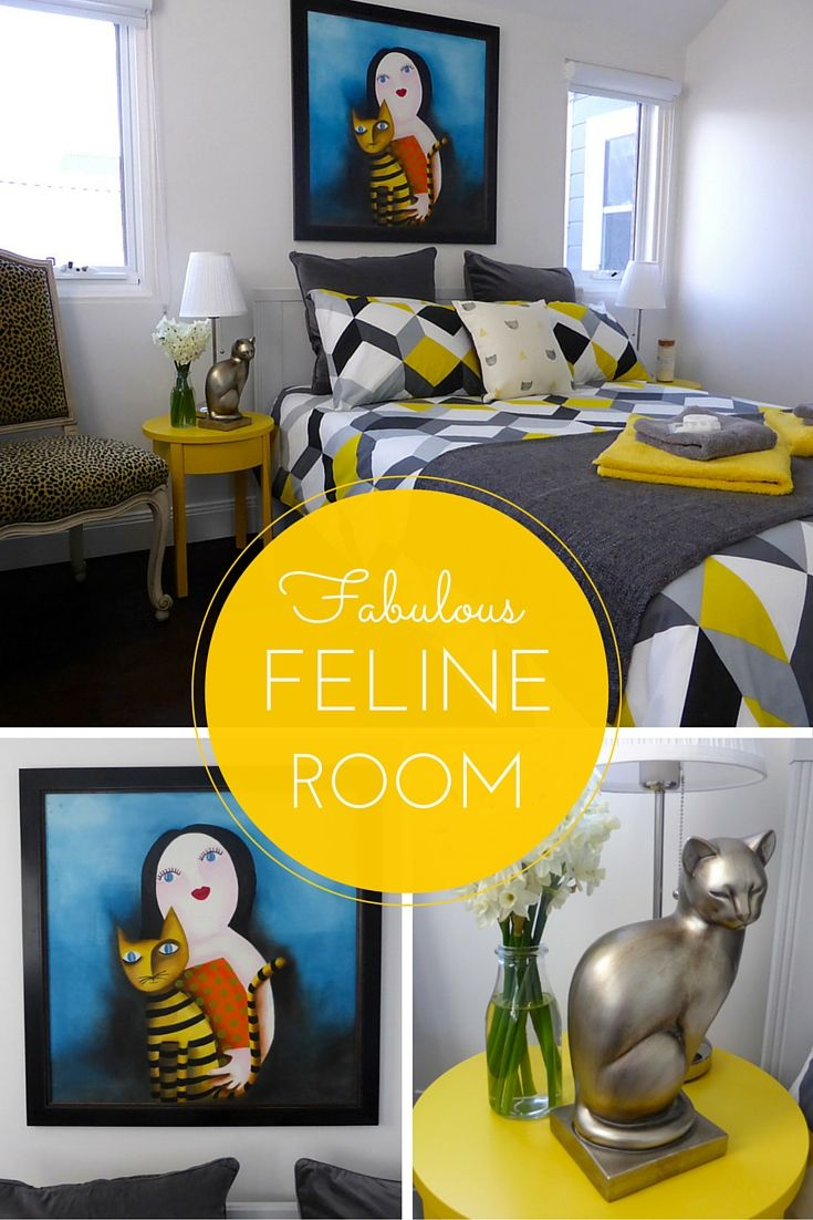 I love our yellow feline-inspired guest room!  Check it out at www.thesmallworld.com.au