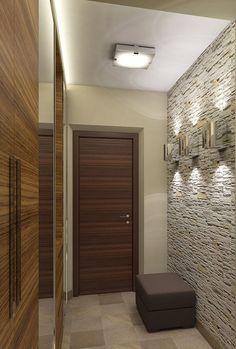Красивый дизайн прихожей в малогабаритной квартире.