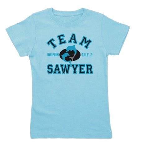Team Sawyer Dolphin Tale 2 Girl's Tee