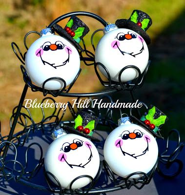 Christmas ornaments; Snowman ornaments; ornaments