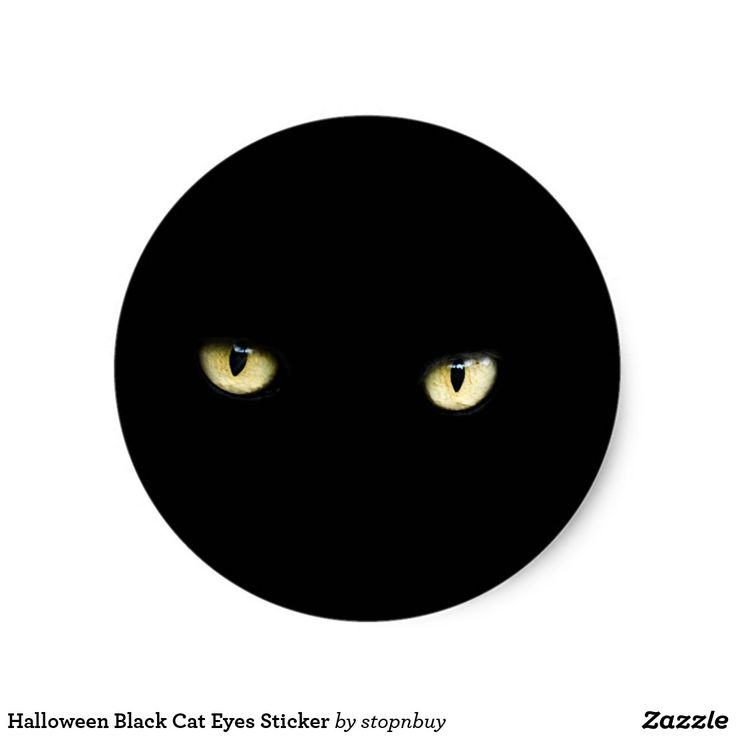 📢Today's Deal. 50% OFF with code!! Halloween Black Cat Eyes Sticker