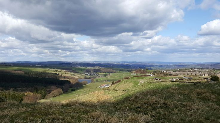 Looking down from Hade Edge to Holmfirth, West Yorkshire