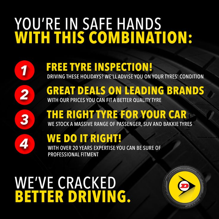 Don't miss out! You've got until Saturday the 30th to get great deals on leading tyre brands at any Dunlop Zone.