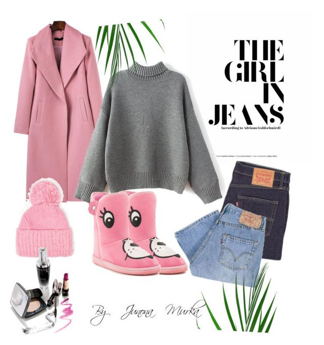 """Gray pink"" by murka-juna on Polyvore featuring Levi's, Iron Fist and Dorothy Perkins"