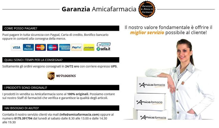 Acquista online in Sicurezza su Amicafarmacia.com!  https://www.amicafarmacia.com