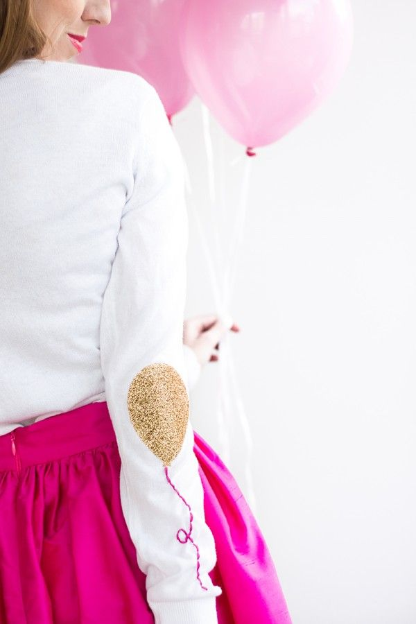 DIY Balloon Elbow Patches                                                                                                                                                                                 Más