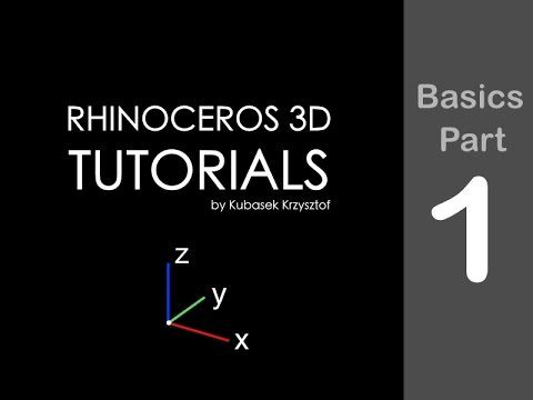 RHINO TUTORIAL - Basics session part 1 - YouTube